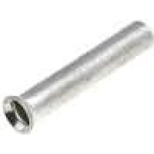 Trubičková koncovka neizolované měď 1mm2 10mm pocínovaný