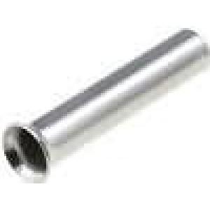 Trubičková koncovka neizolované měď 1,5mm2 10mm pocínovaný