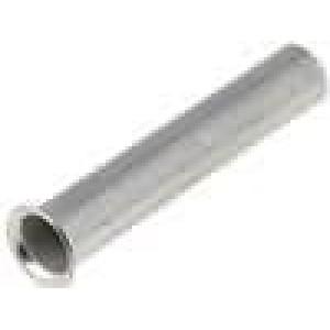 Trubičková koncovka neizolované měď 1,5mm2 12mm pocínovaný