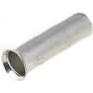 Trubičková koncovka neizolované měď 4mm2 12mm pocínovaný