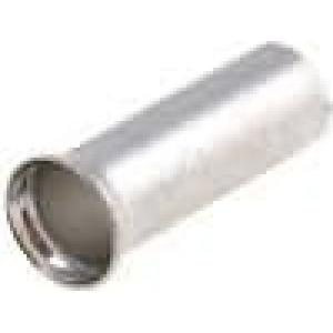 Trubičková koncovka neizolované měď 6mm2 12mm pocínovaný
