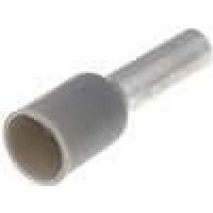 Trubičková koncovka izolovaná měď Izolace polyamid 4mm2 10mm