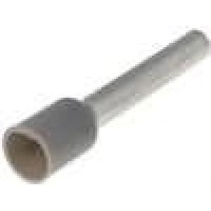 Trubičková koncovka izolovaná měď Izolace polyamid 4mm2 18mm