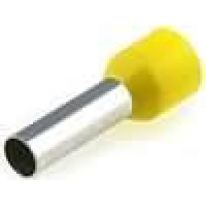 Trubičková koncovka izolovaná měď Izolace polyamid 6mm2 12mm