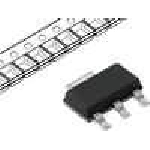 LM1117MP-2.5/NO Stabilizátor napětí LDO, nenastavitelný 2,5V 0,8A SMD SOT223