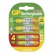 Nabíjecí baterie GP NiMH HR6 (AA) + HR03 (AAA), 8 ks blistr