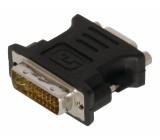 Adaptér DVI – VGA, 24+5pinová zástrčka DVI-I – zásuvka VGA, černý