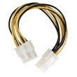 Redukční kabel interního napájení, 8-pinový konektor EPS - zásuvka P4, 0,15 m, více barev
