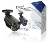 Bezpečnostní kamera se 700 televizními řádky, včetně 18 metrového kabelu