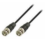 BNC kabel s konektory BNC zástrčka –BNC zástrčka 3,00 m, černý