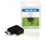 Adaptér HDMI s konektory HDMI úhlový pravý – HDMI vstup, černý