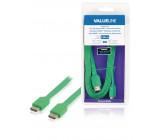 Plochý High Speed HDMI™ kabel s ethernetem a konektory HDMI™ – HDMI™, 2,00 m zelený