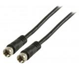 Anténní kabel F zástrčka – F zástrčka 1,00 m, černý