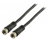 Anténní kabel F zástrčka – F zástrčka 20,0 m, černý