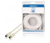 Anténní kabel F zástrčka – F zástrčka 10,0 m, bílý