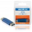 Adaptér USB 3.0, zásuvka USB A - zásuvka USB A, modrý