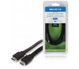 Plochý High Speed HDMI Kabel s Ethernetem HDMI Konektor - HDMI Konektor 3,00 m, černý
