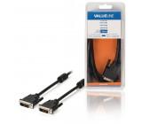 Kabel, 24 + 1-pinová zástrčka DVI-D - 24 + 1-pinová zástrčka DVI-D, 2,00 m, černý