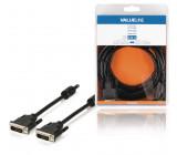 Kabel, 24 + 1-pinová zástrčka DVI-D - 24 + 1-pinová zástrčka DVI-D, 3,00 m, černý