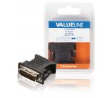 Redukce DVI, 24 + 5-pinová zástrčka DVI-I - zásuvka VGA, černý