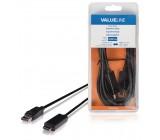 Kabel, zástrčka DisplayPort - konektor HDMI, 3,00 m, černý