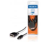 Kabel, zástrčka DisplayPort - 24 + 1-pinová zástrčka DVI-D, 1,00 m, černý