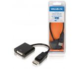 Redukční kabel, zástrčka DisplayPort - 24 + 1-pinová zásuvka DVI-D, 0,20 m, černý