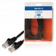 Síťový kabel UTP CAT5e, zástrčka RJ45 - zástrčka RJ45, 10,0 m, černý