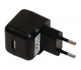 AC nabíječka, USB A zásuvka – AC AC síťová zástrčka, černá