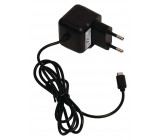 AC nabíječka, Micro USB – AC zásuvka do sítě, 1,00 m, černá 2.1A