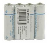 Zinkouhlíkové baterie AA/R6 1.5 V fólie 4 ks