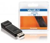 DisplayPort adaptér, zástrčka DisplayPort – HDMI vstup, černý