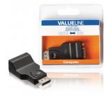 DisplayPort adaptér, zástrčka DisplayPort – VGA zásuvka, černý