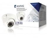 Bezpečnostní kamera s kopulovým krytem a varifokálním objektivem, bílá
