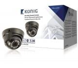 Bezpečnostní kamera s kopulovým krytem a varifokálním objektivem, černá