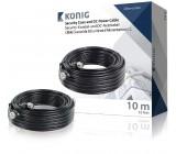 Bezpečnostní koaxiální kabel RG59 a DC napájení, 10 m