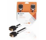 DVI-D kabel, DVI-D zástrčka – zástrčka, 2 m, šedý