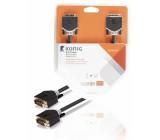 DVI-D kabel, DVI-D zástrčka – zástrčka, 3 m, šedý