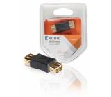 USB 2.0 slučovač, zásuvka A – zásuvka A, 1 ks, šedý