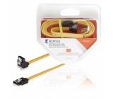 SATA datový kabel, 6 Gb/s, SATA 7-pin zásuvka – úhlová zásuvka 90°, 1 m, žlutý
