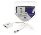 Mini DisplayPort – VGA kabel s adaptérem, Mini DisplayPort zástrčka – VGA zásuvka, 0,2 m, bílý