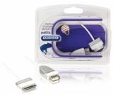 OTG kabel USB 2.0 pro tablet Samsung, 30-pin zástrčka Samsung - zásuvka USB A, 0,2 m, bílý