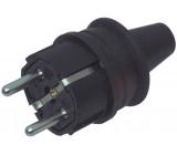 Rubber power plug black