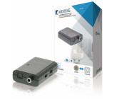 2cestný digitální audio převodník, TosLink zásuvka + S/PDIF zásuvka – TosLink zásuvka + S/PDIF zásuvka, tmavě šedá