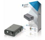 Digitální audio převodník, S/PDIF zásuvka – TosLink zásuvka, tmavě šedá