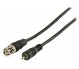 Video kabel s konektory RCA zástrčka - BNC zástrčka 1,00 m černý