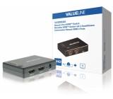 Ruční 4portový HDMI přepínač, 4x HDMI vstup – HDMI výstup, černý