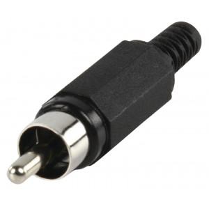 RCA plug plastic black