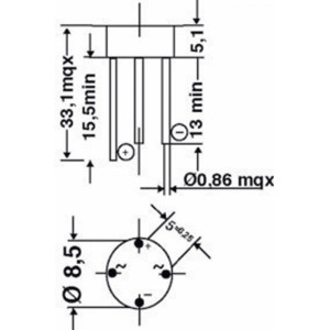 Bridge rectifier round