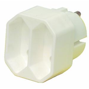 Adaptér rozbočovací - 2x euro - bílá